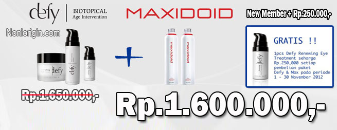 Promo Desember Maxidoid dan Defy, Gratis Defy Eye Treatment