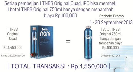 Promo Sept TNJ 750ml Hanya 100rb